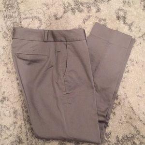 Gray Skinny Ankle Pants